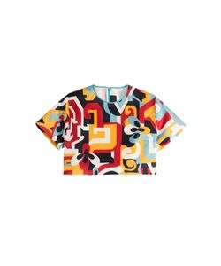 Dsquared2 | Printed Silk Cropped Top Gr. 36