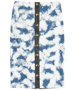 Fausto Puglisi | Denim Skirt With Leather Detail Gr. It 38