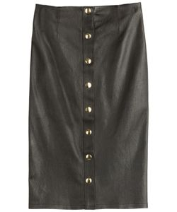 Fausto Puglisi | Leather Pencil Skirt Gr. 34