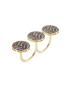 Ileana Makri | 18-Karat Gold And Sapphire Knuckle Ring Gr. One Size