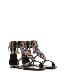 Giuseppe Zanotti Design | Embellished Leather Gladiator Sandals Gr. 38