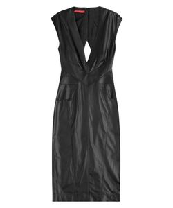 TAMARA MELLON | Leather Dress With Cut-Out Back Gr. 6