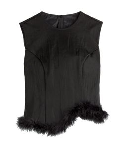 Simone Rocha | Mesh Top With Marabou Feathers Gr. 36