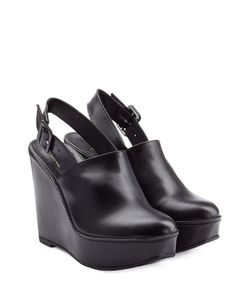 Robert Clergerie | Leather Wedges Gr. 39