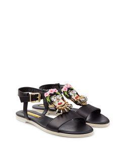 Rupert Sanderson | Cara Frida Embellished Leather Sandals Gr. 36