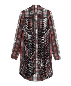 Mcq Alexander Mcqueen | Distressed Silk Shirt Dress Gr. It 34