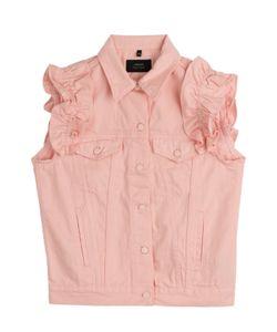 SIMONE ROCHA X J BRAND | Denim Vest With Frilled Sleeves Gr. S/M