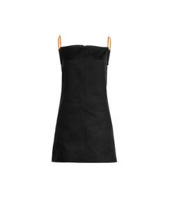 Courreges   Cotton Dress With Plastic Straps Gr. 38