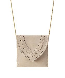 Hacienda Montaecristo | Marieta Gold Plated Necklace With Leather Pouch Gr. One Size