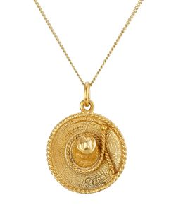 Hacienda Montaecristo | Sinaloa Gold Plated Sombrero Necklace Gr. One Size