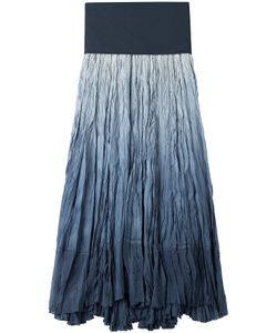 Donna Karan New York | Crinkled Silk Maxi Skirt Gr. S
