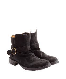Fiorentini+Baker | Suede Buckle Boots Gr. 40