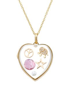 Loquet | 14-Karat Large Heart Locket With 18ct Diamonds/Gems Gr. One Size