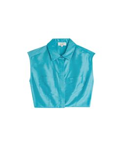 Isa Arfen | Cropped Silk-Blend Blouse Gr. 34