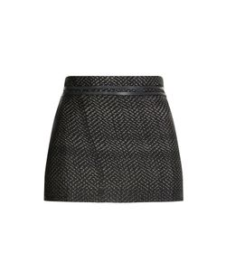 Hacienda Montaecristo | Woven Skirt With Leather Gr. One Size
