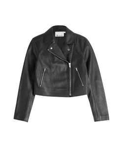 T By Alexander Wang | Cropped Leather Biker Jacket Gr. 38