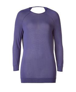 Halston | Sweet Lavender Deep Cowl-Neck Back Top Gr. L