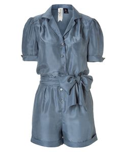 Bird by Juicy Couture | Steel Blue Washed Silk Jumpsuit Gr. L
