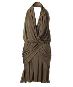 Halston | Olive Hooded Draped Dress Gr. 38