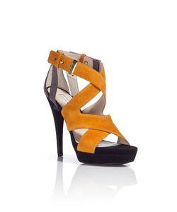 Burak Uyan | Cognac/Black Suede Platform Sandals Gr. 37