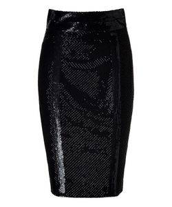 L\'Wren Scott | Silk Mesh Embroidered Pencil Skirt Gr. 36
