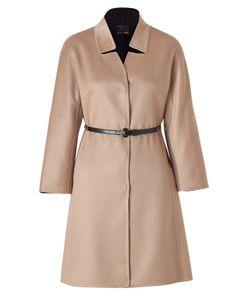 Fendi | Camel Cashmere Coat With Studded Leather Belt Gr. 38