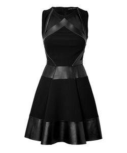 David Koma | Leather/Haircalf Strapless Dress Gr. 6