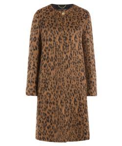 Salvatore Ferragamo | Wool-Alpaca Leopard Print Coat Gr. 36