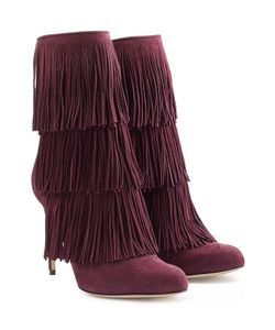 Paul Andrew | Fringed Suede Booties Gr. 36