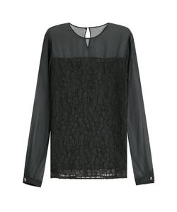 Jason Wu | Silk Chiffon Blouse With Lace Gr. Us 4