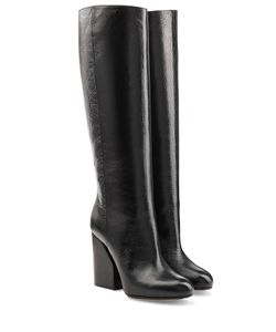 Maison Margiela | Leather Knee Boots Gr. 36