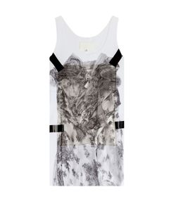 Maison Margiela | Printed Cotton Tank With Applique Gr. S