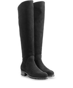 Rupert Sanderson | Suede Over-The-Knee Boots Gr. 36