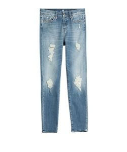 7 for all mankind | Distressed Straight Leg Jeans Gr. 32
