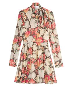 Red Valentino | Printed Silk Dress Gr. It 38