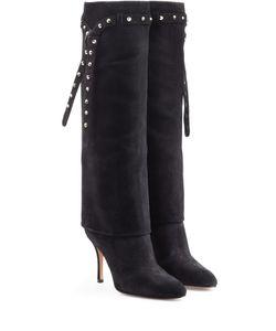 Valentino | Embellished Suede Knee Boots Gr. 38