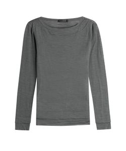Donna Karan New York | Wool Jersey Top Gr. S