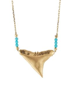 Aurelie Bidermann | Shark 18kt Yellow Gold Necklace With Turquoise Gr. One Size