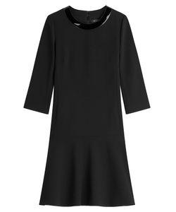 Ralph Lauren Black Label | Wool Dress With Patent Collar Gr. 36