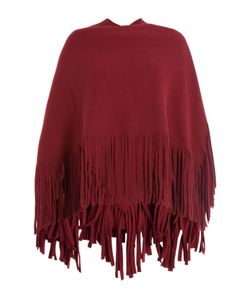 Burberry Prorsum | Wool Cape With Fringed Trim Gr. One Size