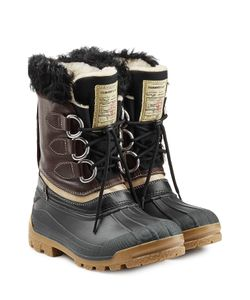 Dsquared2 | Rubber Boots With Leather And Shearling Gr. 39/40