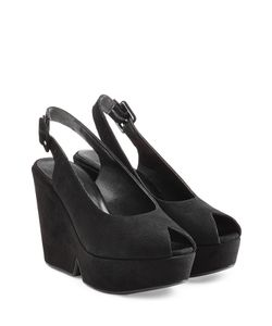 Robert Clergerie | Suede Platform Peep Toe Sandals Gr. 365