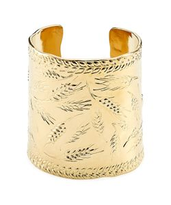 Aurelie Bidermann | Françoise 18kt Gold Plated Embossed Cuff Gr. One Size