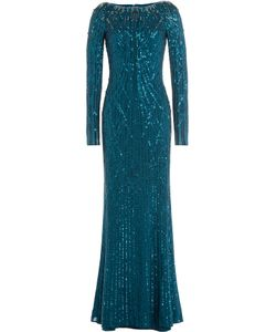 Jenny Packham | Bead Embellished Floor-Length Gown Gr. Uk 8