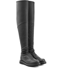 Rick Owens | Leather Over-The-Knee Boots Gr. 35