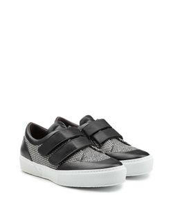 Robert Clergerie | Sneakers With Printed Fabric And Leather Gr. 35