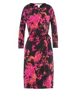 Diane Von Furstenberg   Printed Silk Jersey Dress Gr. Us 2