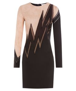 Emilio Pucci | Embellished Silk Dress With Lace Gr. 38