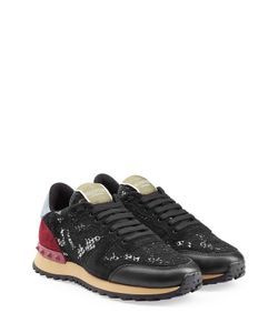 Valentino | Rockstud Sneakers With Leather And Lace Gr. It 415