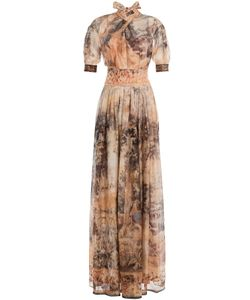 Alberta Ferretti | Printed Silk Maxi Dress Gr. 38